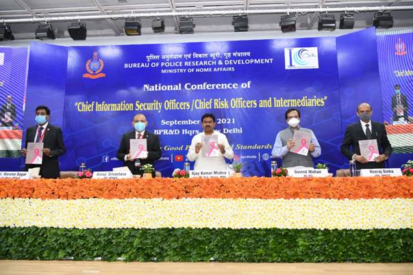Minister of State for Home Affairs, Shri Ajay Kumar Mishra inaugurated Opening Session of National Conference of CISOs/CROS/Intermediaries in New Delhi today