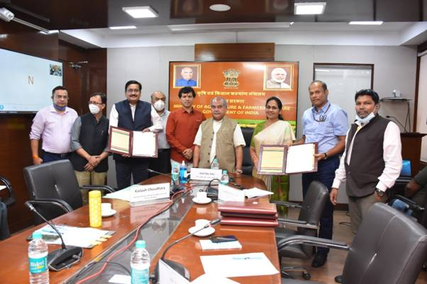 Ministry of Agriculture and Farmers welfare signs 5 MOUs with private companies for taking forward Digital Agriculture