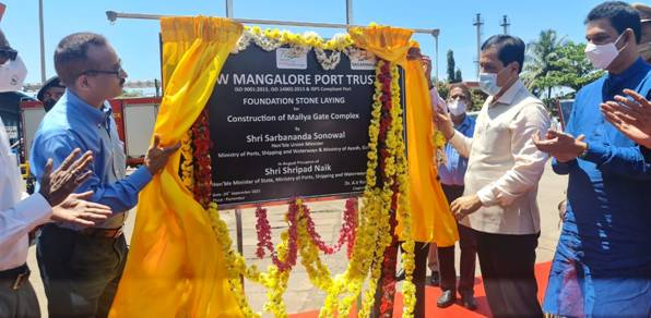 Shipping Minister Shri Sonowal inaugurates and lays foundation stone of three projects at New Mangalore Port