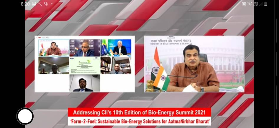 Shri Nitin Gadkari says agriculture is our real strength supporting fuel energy security of the country