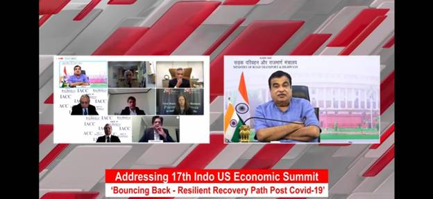 Shri Nitin Gadkari says the US and India have an important role to play in the post Covid 19 economic recovery