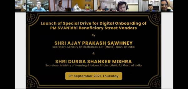 Special drive for Digital onboarding of street vendors launched