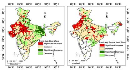 Three new heatwave hotspots in India put large population at immediate health risk