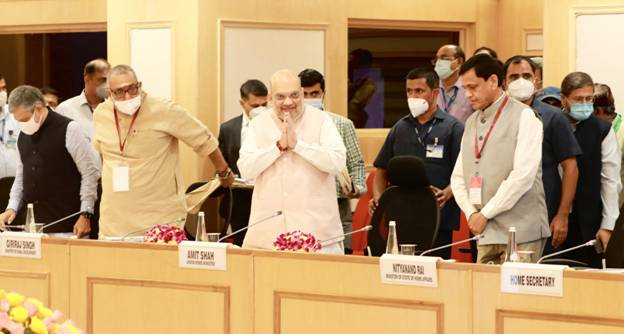 Union Minister of Home Affairs and Minister of Cooperation Shri Amit Shah chairs review meeting in New Delhi on Left Wing Extremism
