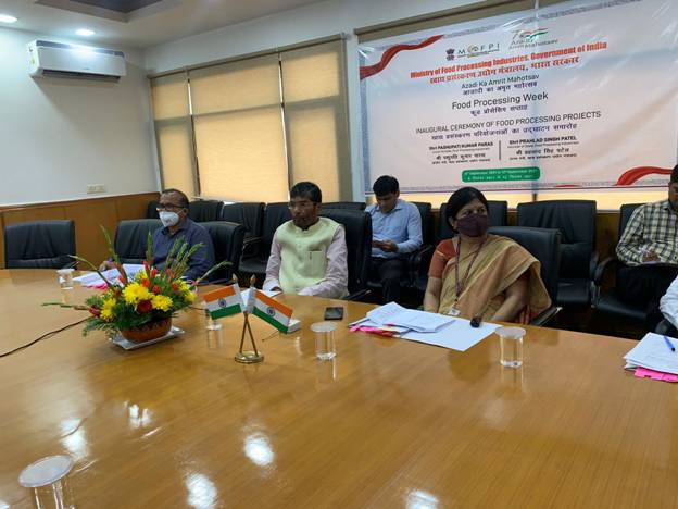 Virtual Inauguration of 6 Food Processing Projects in Maharashtra, Uttarakhand and Haryana by the Union Minister for Food Processing Industries, Shri Pashupati Kumar Paras