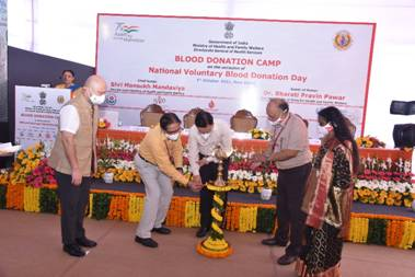 Health Ministry organises Voluntary Blood Donation Camp to mark National Voluntary Blood Donation Day