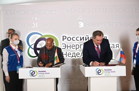 Meeting of Union Steel Minister with Minister of Energy of the Russian Federation; Landmark MoU on Collaboration in Coking coal sector signed