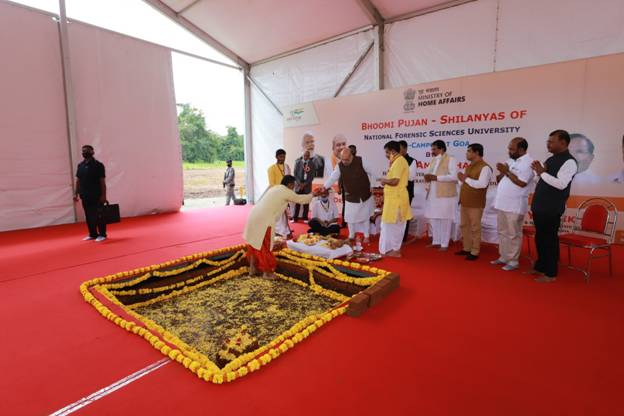 The Union Minister of Home Affairs and Minister of Cooperation, Shri Amit Shah, today laid the foundation stone of the 3rd Campus of National Forensic Science University (NFSU) at Dharbandora, Goa