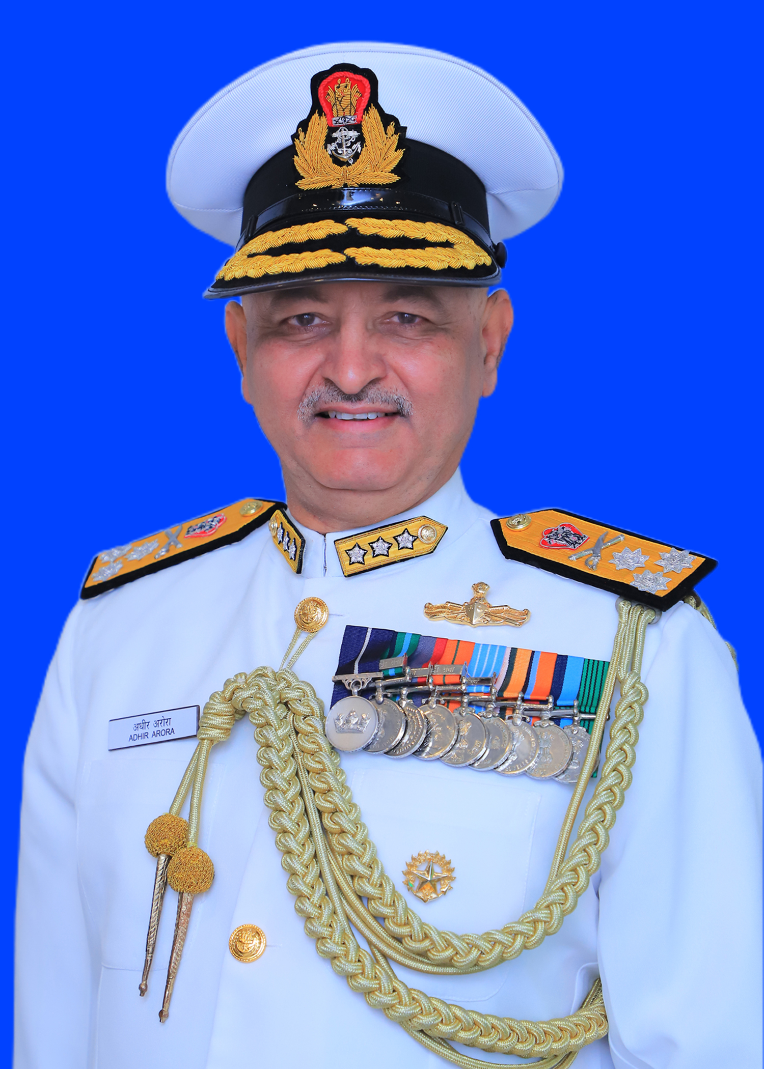 VICE ADMIRAL ADHIR ARORA, NM ASSUMES CHARGE AS CHIEF HYDROGRAPHER TO THE GOVT OF INDIA